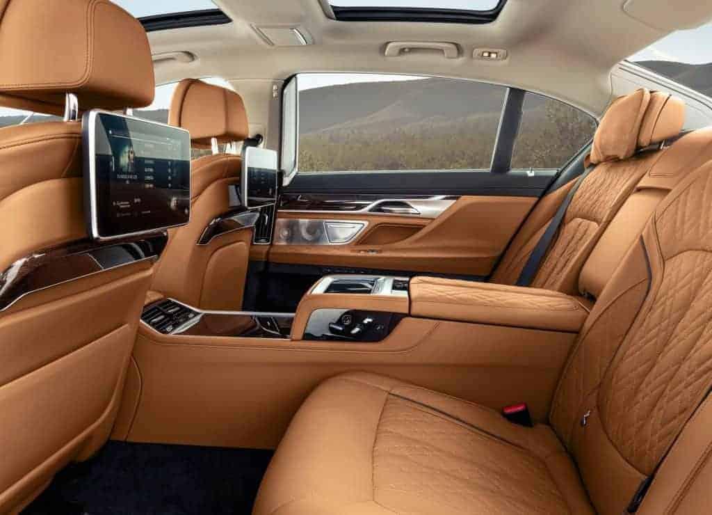 BMW 7-Serie interieur bruin